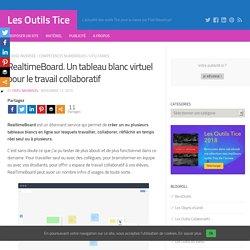 RealtimeBoard. Un tableau blanc virtuel pour le travail collaboratif – Les Outils Tice
