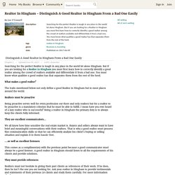 Realtor In Hingham - Distinguish A Good Realtor in Hingham From a Bad One Easily by Jon O'Connell