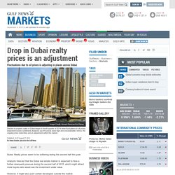 Drop in Dubai realty prices is an adjustment
