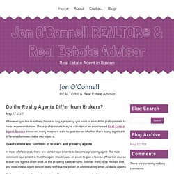 Do the Realty Agents Differ from Brokers?
