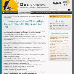 Le réaménagement du CDI du collège Anatole France des Clayes-sous-Bois (78)