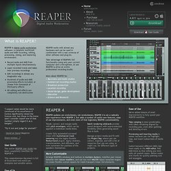 REAPER | Audio Production Without Limits
