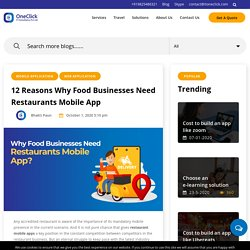 12 Reason Why Food Businesses Need Restaurant Mobile Apps