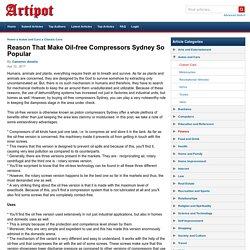 Oil-Free Piston Compressors Sydney