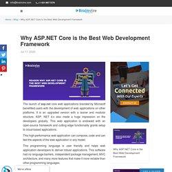 Reason Why ASP.NET Core is Best Web Development Framework