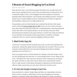 5 Reason of Guest Blogging Isn't as Dead