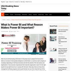 What Is Power BI and What Reason Makes Power BI Important? - USA Breaking News Today