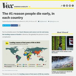 The #1 reason people die early, in each country