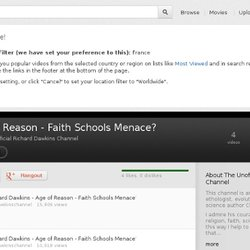 Age of Reason - Faith Schools Menace?