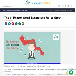 The #1 Reason Small Businesses Fail to Grow