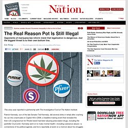 The Real Reason Pot Is Still Illegal