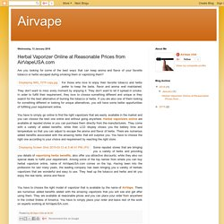 Airvape: Herbal Vaporizer Online at Reasonable Prices from AirVapeUSA.com