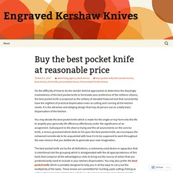 Buy the best pocket knife at reasonable price