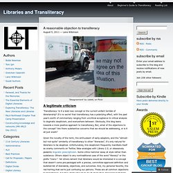 A reasonable objection to transliteracy