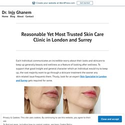 Reasonable Yet Most Trusted Skin Care Clinic in London and Surrey – Dr. Injy Ghanem