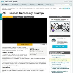 ACT Science Reasoning: Strategy Video - Lesson and Example