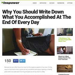 10 Reasons To Write Down What You Accomplished Today