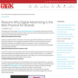 Reasons Why Digital Advertising is the Best Practice for Brands