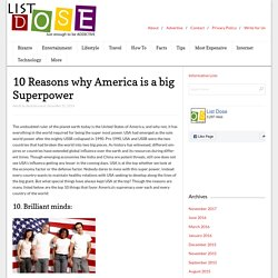 10 Reasons why America is a big Superpower - List Dose