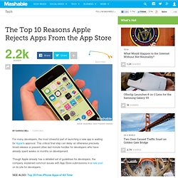 The Top 10 Reasons Apple Rejects Apps From the App Store