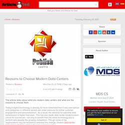 Reasons to Choose Modern Data Centers