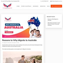 Reasons to Why Migrate to Australia - VXL Migration