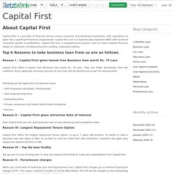 Reasons to Avail Business Loans from Capital First