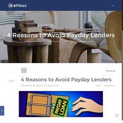 4 Reasons to Avoid Payday Lenders