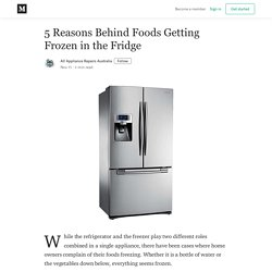 5 Reasons Behind Foods Getting Frozen in the Fridge