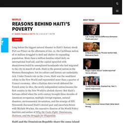 Reasons Behind Haiti's Poverty