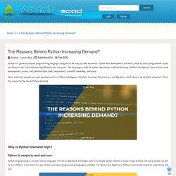 The Reasons Behind Python Increasing Demand?