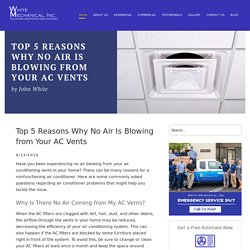 Top 5 Reasons Why No Air Is Blowing from Your AC Vents