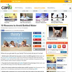 10 Reasons to Avoid Bottled Water