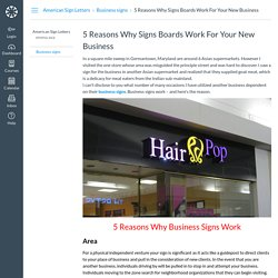 5 Reasons Why Signs Boards Work For Your New Business