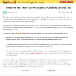 3 Reasons Your Travel Business Needs A Corporate Booking Tool