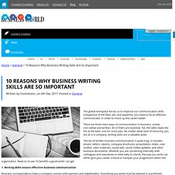 10 Reasons Why Business Writing Skills Are So Important General, news for Ireland, Blog,