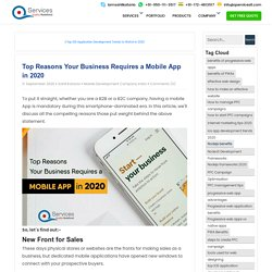 Top Reasons Your Business Requires a Mobile App in 2020