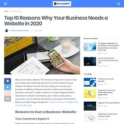Top 10 Reasons Why Your Business Needs a Website in 2020 – We Consent