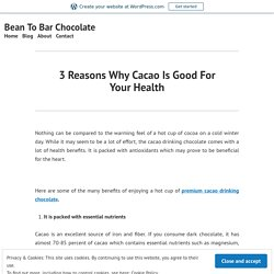 Enjoy A Hot Cup Of Premium Cacao Drinking Chocolate