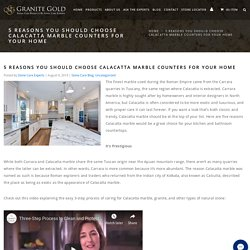 5 Reasons to Get Calacatta Marble Countertops