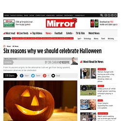 Dr Ciaran O'Keeffe: Six reasons why we should celebrate Halloween - Dr Ciaran O'Keeffe