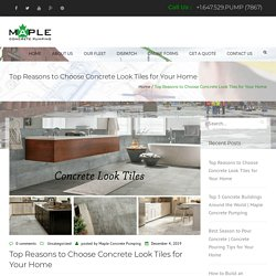 Top Reasons to Choose Concrete Look Tiles for Your Home