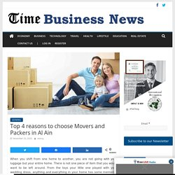 Top 4 reasons to choose Movers and Packers in Al Ain