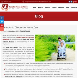 Reasons to Choose our Home Care