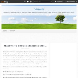 Reasons to choose stainless steel.