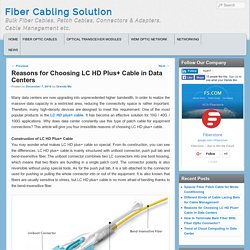 Reasons for Choosing LC HD Plus+ Cable in Data Center