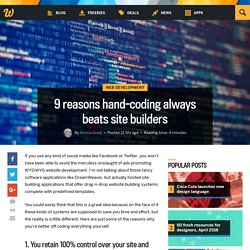 9 reasons hand-coding always beats site builders