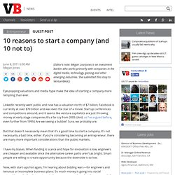 10 reasons to start a company (and 10 not to)