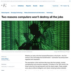 Two reasons computers won't destroy all the jobs
