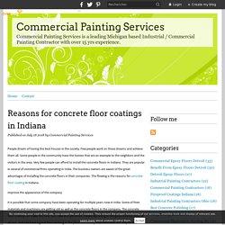 Reasons for concrete floor coatings in Indiana